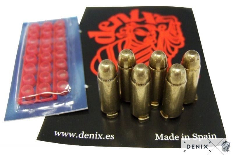 Caps specifically designed to work with Denix revolvers